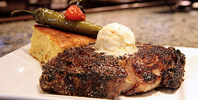 Steak and Cornbread