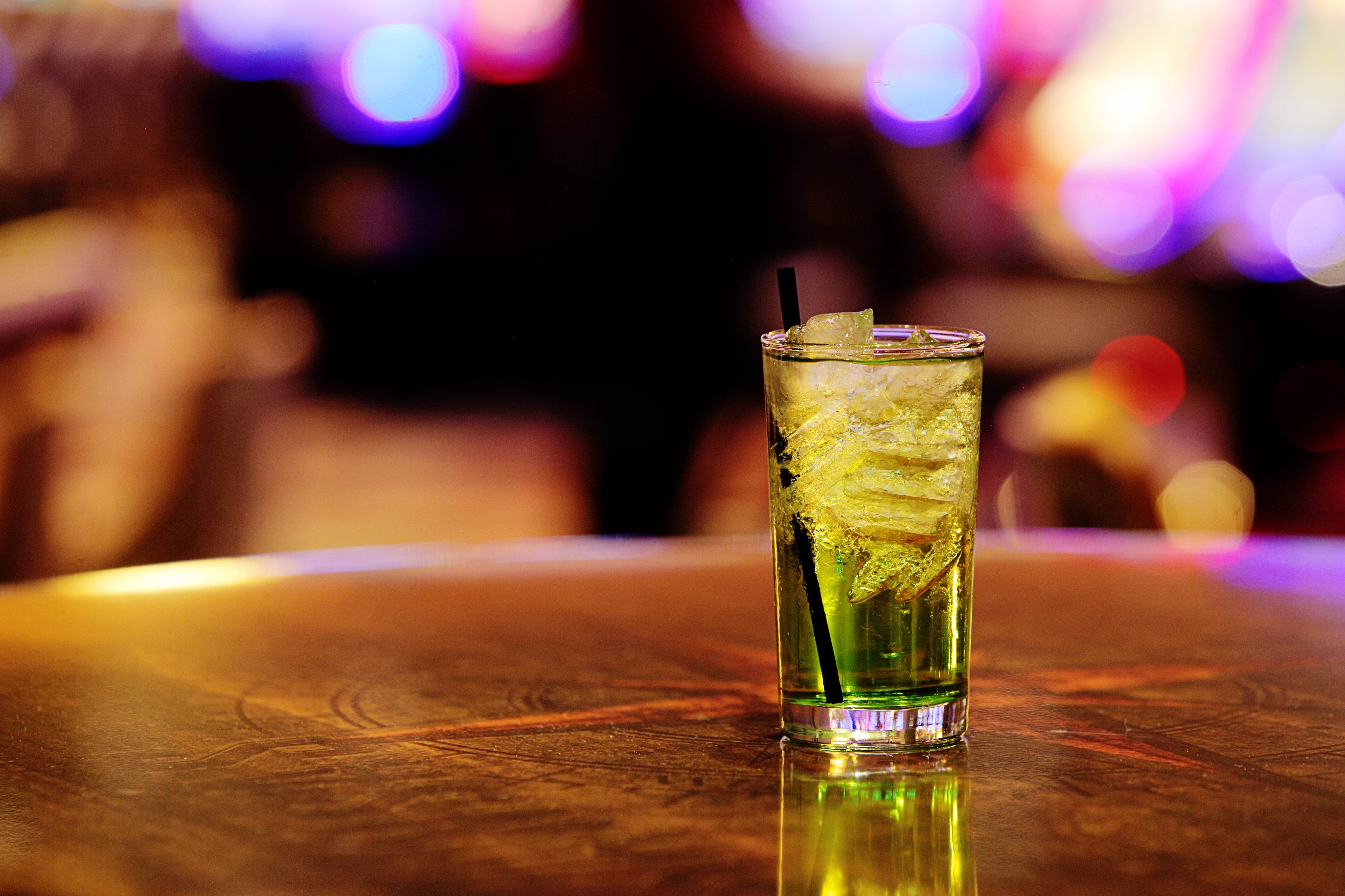 green drink on a table