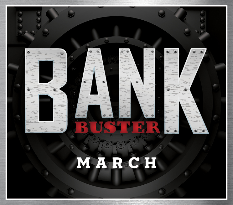 Bank Buster Progressive Drawing March