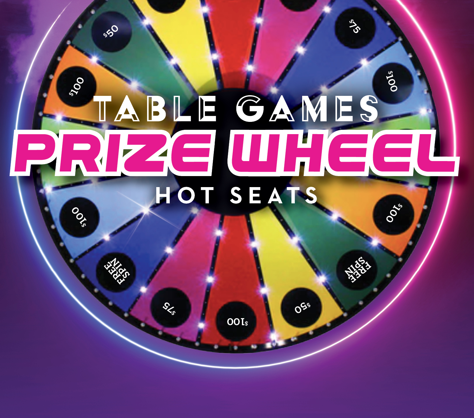 Table Games Prize Wheel Hot Seats